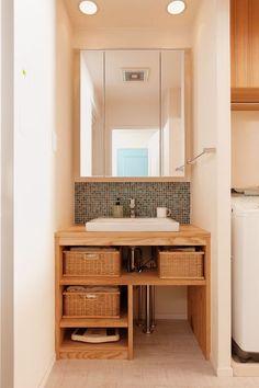 Ideas For Bath House Ideas Towel Storage Laundry In Bathroom, Bathroom Shelves, Washroom, Bathroom Storage, Style Muji, Maison Muji, Casa Muji, Muji Home, House Ideas