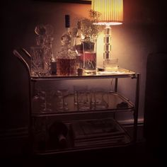 """Seriously swooning at my """"new"""" vintage drinks trolley, and you know we all do need a drinks trolley right? That's half way between the lounge and the kitchen.....saves so much otherwise wasted drinking time! #drinkstrolly #vintage"""