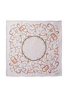 Gucci Women's Silk Scarf, White Multi