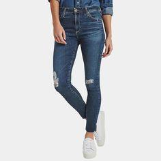 AG Jeans Farrah Ankle Skinny Jean in Interim Destroyed