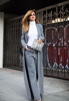 Sophisticated and chic.. Coat and pants - Haider Ackermann, clutch - Lanvin, sunglasses - Gucci #thenativefox #style