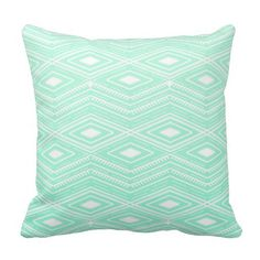 Joy City Hipster Mint Green Arrows Aztec Tribal Pattern Pillow Cover Throw Pillowcase 18 X 18 Square Throw Pillow Cover Cushion Green Duvet Covers, Throw Pillow Covers, Pillow Shams, Modern Wedding Favors, Aztec Tribal Patterns, Hipster Pattern, Cheap Pillows, Green Arrow, My New Room