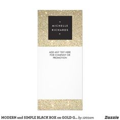 MODERN and SIMPLE BLACK BOX on GOLD GLITTER Rack Card Coordinates with the MODERN and SIMPLE BLACK BOX on GOLD GLITTER Business Card Template. © 1201AM CREATIVE