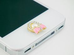 home button, Phone Charm, Colorful bling bow iPhone Home Button Sticker for iPhone 4,4s,4g, iPhone 5s 5c home button, iPad, iPod on Etsy, $0.99