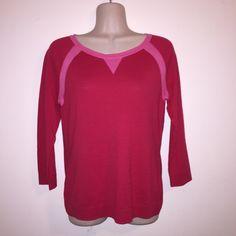 Kensie Sz M Dragon Fruit Soft Long Sleeve Sweater Kensie PiecesSz M Dragon Fruit Color Soft Long Sleeve Thin Sweater New With Tags! Kensie Sweaters Crew & Scoop Necks