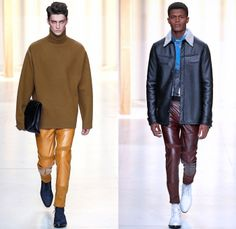 3.1 Phillip Lim 2014-2015 Fall Autumn Winter Mens Runway Looks Fashion - Paris Fashion Week Mode à Paris Masculine Défilés - Denim Jeans Poncho Robe Cloak Parka Motorcycle Biker Western Cowboy Blazer Oversized Outerwear Coat Rollup Flowers Florals Embroidery Bomber Jacket Vestcoat Multi-Panel Turtleneck Plaid Windowpane Check Horse Jogging Sweatpants
