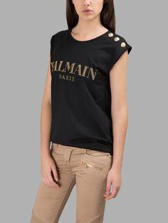 BALMAIN  Black Logo Sleeveless T-Shirt. #balmain #cloth #t-shirts