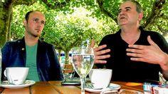 Grünen-Landeschef Sven Lehmann und Blogger Stefan Laurin im Gespräch