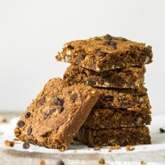 Pumpkin Oatmeal Anytime Squares (vegan, gluten free, oil free)