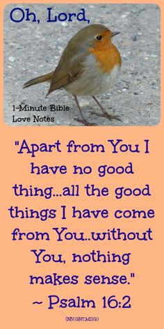 Psalm 16: Apart From God I Have No Good Thing