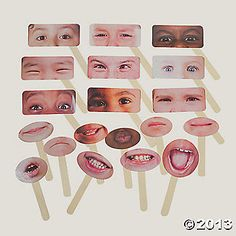 20 Emotions Half Masks.  I just ordered a few sets.  Only 6.99 per set; looks cool enough and the price is terrific ~ autismteachingstrategies.com
