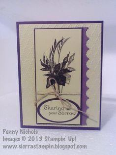 Sympathy #card I made using Stampin' Up!  Fabulous Florets stamp set