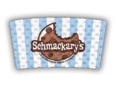 Schmackery's lip-schmackin' good cookies custom printed Java Jacket™ coffee sleeve.