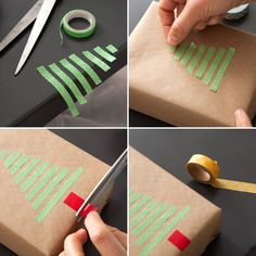Last Minute Gift Wrap Alert! DIY Washi Tape Wrapping Paper - ninja von ninjassieben - Last Minute Gift Wrap Alert! DIY Washi Tape Wrapping Paper Save this easy holiday DIY to decorate Christmas presents with washi tape. Diy Christmas Wrapping Paper, Creative Gift Wrapping, Wrapping Ideas, Gift Wrapping Tutorial, Diy Gifts For Friends, Christmas Presents For Friends, Washi Tape Diy, Diy Gift Box, Gift Boxes
