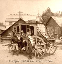 California Miners in front of stagecoach, 1894