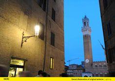 Siena (Italy), Street lighting, Design, Lantern.  http://www.neri.biz/en/Company/News-and-events/Siena-a-thousand-and-one-lights #Light #Design #Urbanlight #Lamps #Structure #Siena #Madeinitaly #Luce #Lighting #Ispiration #NeriSpa #Followus #Follower