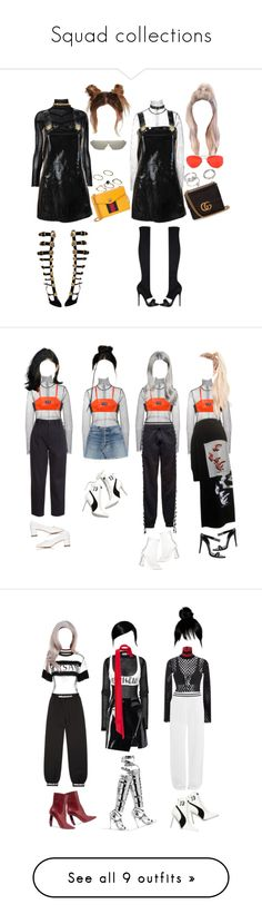 """""""Squad collections"""" by xxcoconuts ❤ liked on Polyvore featuring Issey Miyake, Versace, E L L E R Y, Gucci, Forever 21, ASOS, Puma, RED Valentino, Topshop and Acne Studios"""