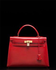 Hermes Kelly Bag in Rouge