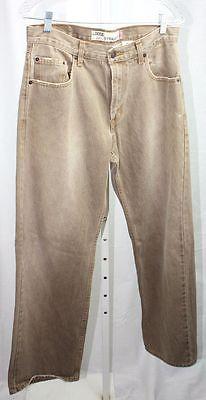 Levi-569-Loose-Fit-Straight-Leg-Brown-100-Cotton-Jeans-Size-30-x-32-VGC