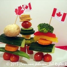 Need an idea for a Canadian themed party appetizer? Make these super cute and delicious edible Inukshuk statues modeled after the magnificent stone monuments built by the Inuit people. Canada Day Party, Canada Day 150, O Canada, Canada Day Fireworks, Canada Day Crafts, Canada Holiday, Canadian Food, Bbq Party, Fruit And Veg