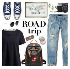 """""""Road trip gamiss #26"""" by wannanna ❤ liked on Polyvore featuring Hollister Co., Converse and Bobbi Brown Cosmetics"""