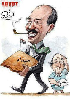 Anwar El Sadat If only this brave man had not been assassinated.much of the Middle East would be offering a better life for their people. President Of Egypt, Homer Odyssey, Memphis City, Egyptian Actress, Funny Caricatures, Old Egypt, World History, Cairo, Cool Drawings
