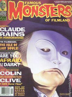 Famous Monsters of Filmland Magazine comic books Classic Monster Movies, Classic Monsters, Sci Fi Horror, Horror Films, Claude Rains, Movie Magazine, Famous Monsters, Invisible Man, Bride Of Frankenstein