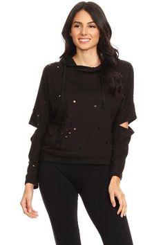 323b301351 Women stylish cut out sweater – PrimetimeShoppe Black Sweaters