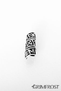 Grimfrost - Beard/Hair Bead, Silver with Runes