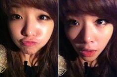 Girl's Day's Minah shares a pair of selcas #allkpop #kpop #girlsday