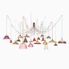 PET Lamp Chandelier par Alvaro Catalán de Ocón