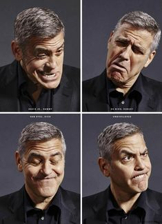 George Clooney for Esquire USA May 2016 by Nigel Parry