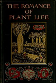 The Romance of Plant Life... G.F.Scott Elliot   1907  (Featuring Australian Bottle Trees on cover illustration)