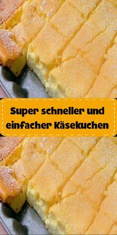 Super fast and easy cheesecake - Kuchen rezepte - Dessert Recipes Pudding Desserts, Cheesecake Desserts, Easy Desserts, Easy Dinner Recipes, Delicious Desserts, Easy Meals, Dessert Recipes, Dessert Blog, Simple Cheesecake