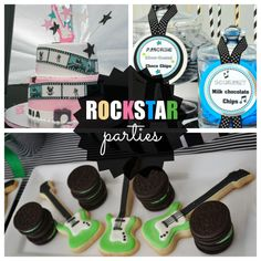Rock Star Parties are a great theme for both boys and girls. See more party ideas at CatchMyParty.com