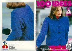 Fiche tricot : Le gilet bleu en point reliefs