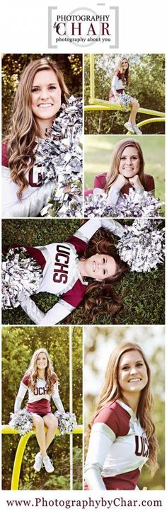 48 Ideas For Sport Photography Ideas Cheer Poses - How to Take a Photo What are the Tricks? The techniques of photographing a… Cheerleading Senior Pictures, Cheerleading Poses, Cheer Poses, Girl Senior Pictures, Senior Girls, Senior Cheerleader, Cheerleading Uniforms, Cheer Stunts, Volleyball Pictures