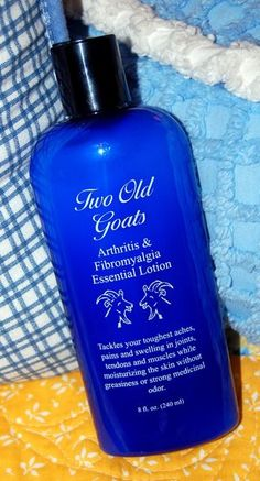 Fibromyalgia. Two Old Goats Lotion:  lavender, chamomile, rosemary, eucalyptus, peppermint, birch bark, goat's milk, almond oil, aloe vera.  Worth trying...... @ Amazon & Ebay
