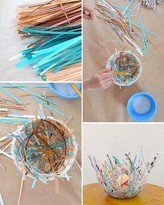 Art Bar's paper bird nests via The Crafty Crow