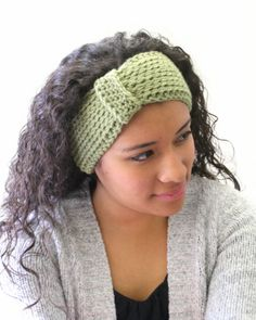 LILY    Dusty Green Crochet Headband by NecessoriesbyMIA on Etsy, #crochet #headband #crochetheadband #giftidea #NecessoriesbyMia #winter #handmade