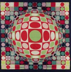 FOUR WORKS - (Victor Vasarely)