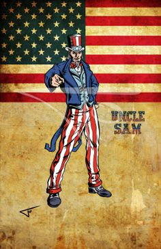 57. Uncle Sam. DC character daily challenge 2014 by Journey Studios