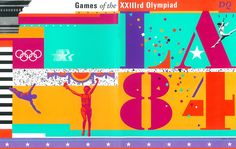 sussman/prejza designed the identity for the 1984 olympic games