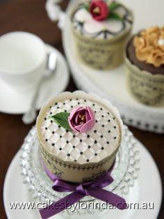 Dainty Pink Rosebud Pretty Cupcake