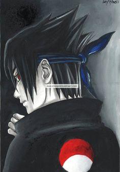 sasuke in oils and a bit of graphite. Naruto Family, Naruto Drawings, Sasuke Uchiha, Mystery, Batman, Darth Vader, Deviantart, Superhero, Mysterious