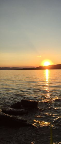 sun set in Rapperswil. View from the Lützelau island...