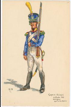 SOLDIERS- Boisselier: Garde de Sécurité de Naples, 1813: Voltigeur, by H. Boisselier.