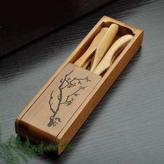 TangFeng Chinese Bamboo Tea Utensils Set