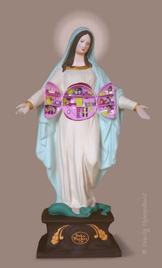 Soasig Chamaillard   Détournement Statue Sainte Vierge   Holy Pocket