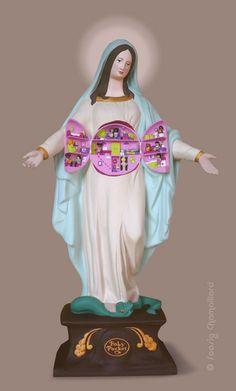 Soasig Chamaillard | Détournement Statue Sainte Vierge | Holy Pocket